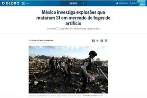 Explosión en Tultepec se vuelve noticia internacional