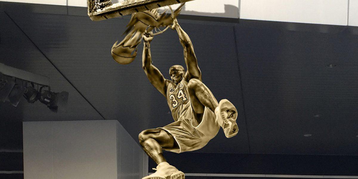 Lakers develarán estatua de Shaquille O'Neal como homenaje