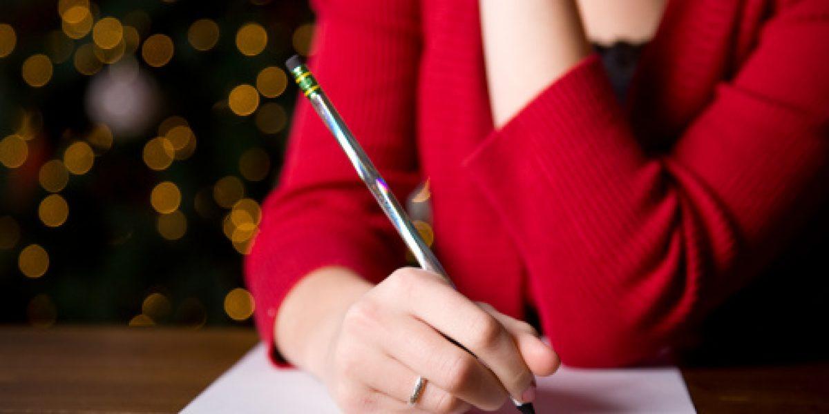Esta es la forma correcta de escribir en Navidad
