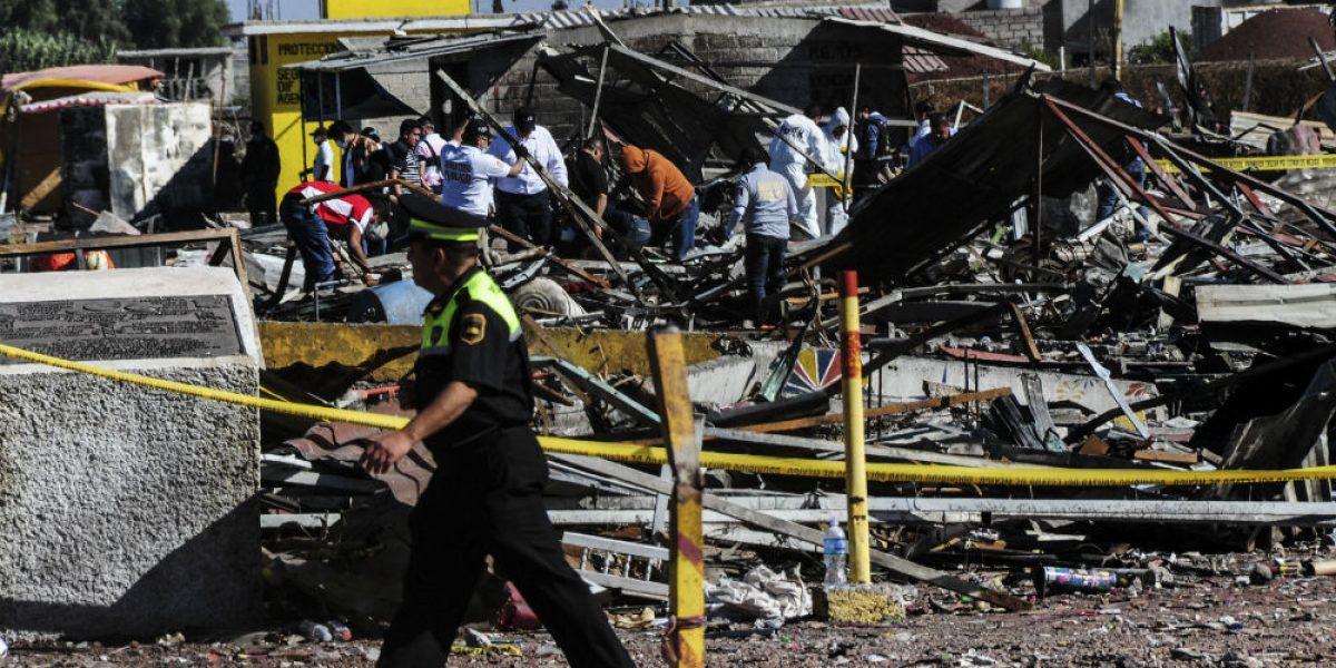Explosión en San Pablito habría iniciado por un cohete encendido, según testigos