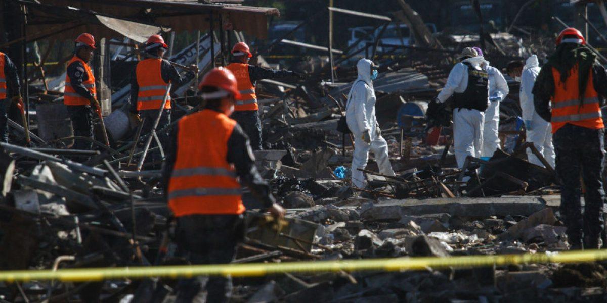 Locatarios sospechan delincuencia organizada detrás de explosión en San Pablito: edil de Tultepec