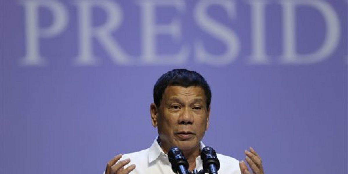 Presidente de Filipinas llama idiota al comisionado de la ONU