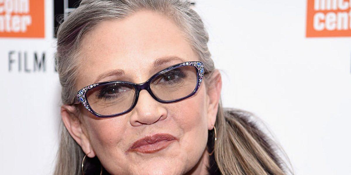 Carrie Fisher sufre infarto en avión