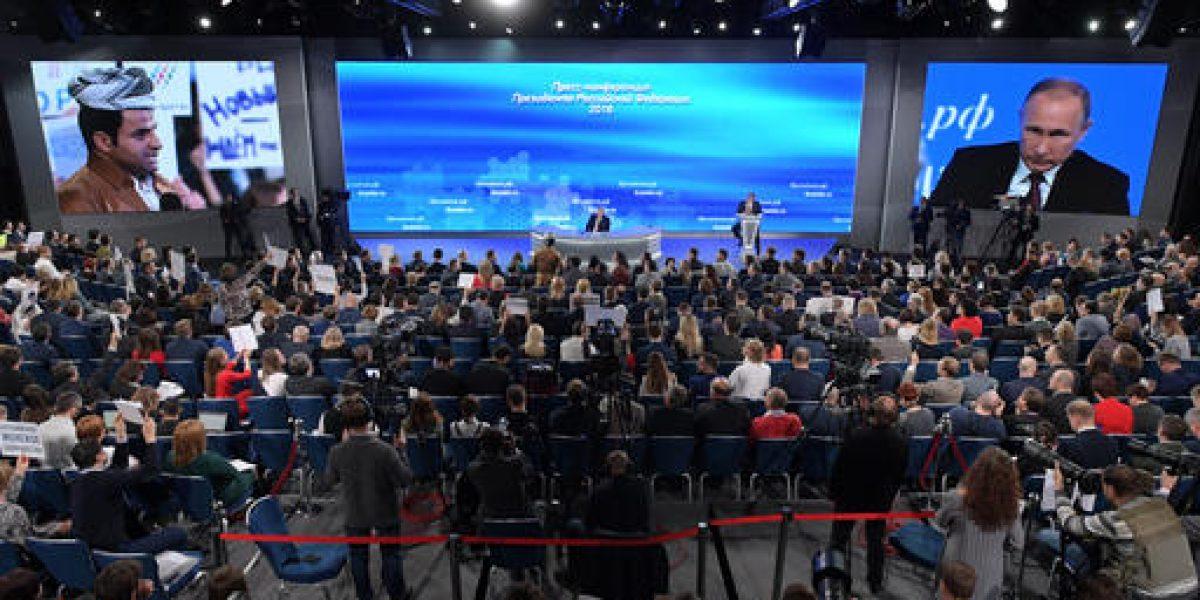Siria y relaciones con EU destacan en rueda de prensa anual de Putin