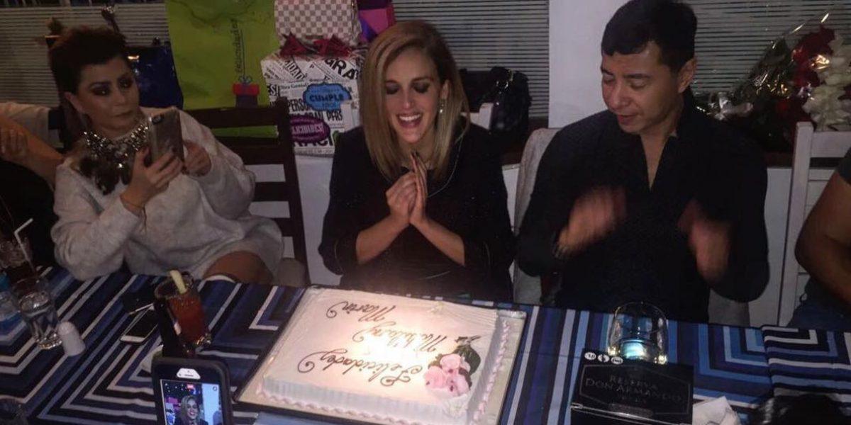 Malillany Marín festeja cumpleaños al lado de familiares y amigos