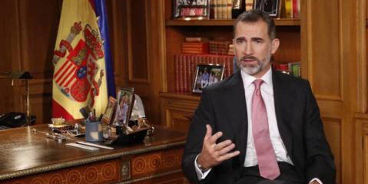 Rey de España elude a Cataluña en discurso navideño