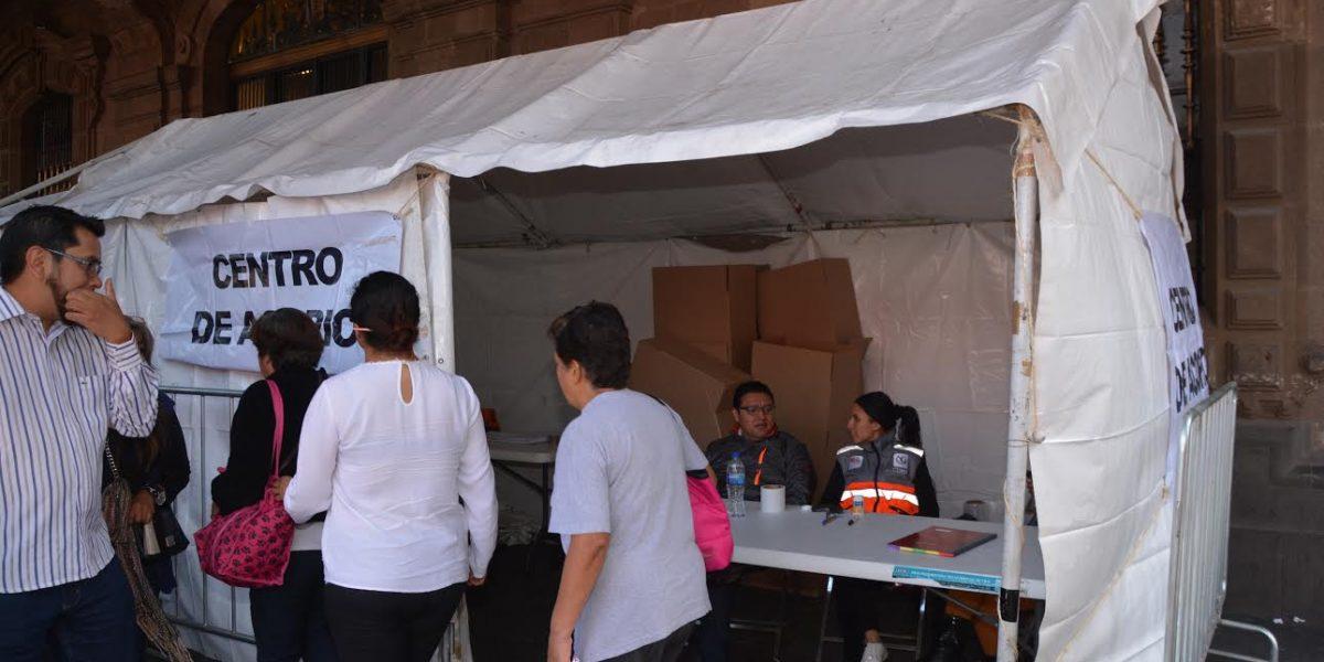 CDMX instala centro de acopio en apoyo a Tultepec