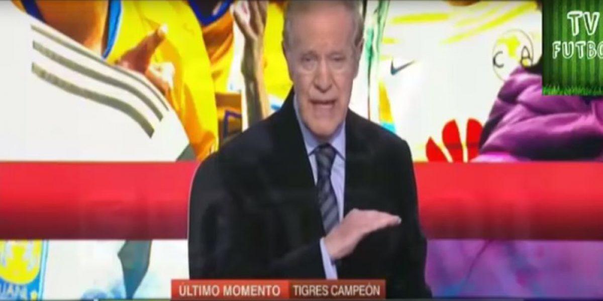 Critican a José Ramón Fernández por decir que el árbitro del Tigres-América tiene síndrome de down