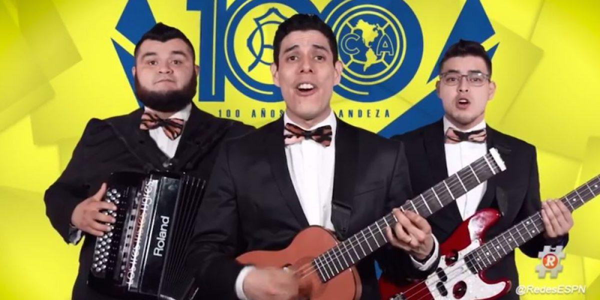VIDEO: Los Tres Tristes Tigres dedicaron una canción al América