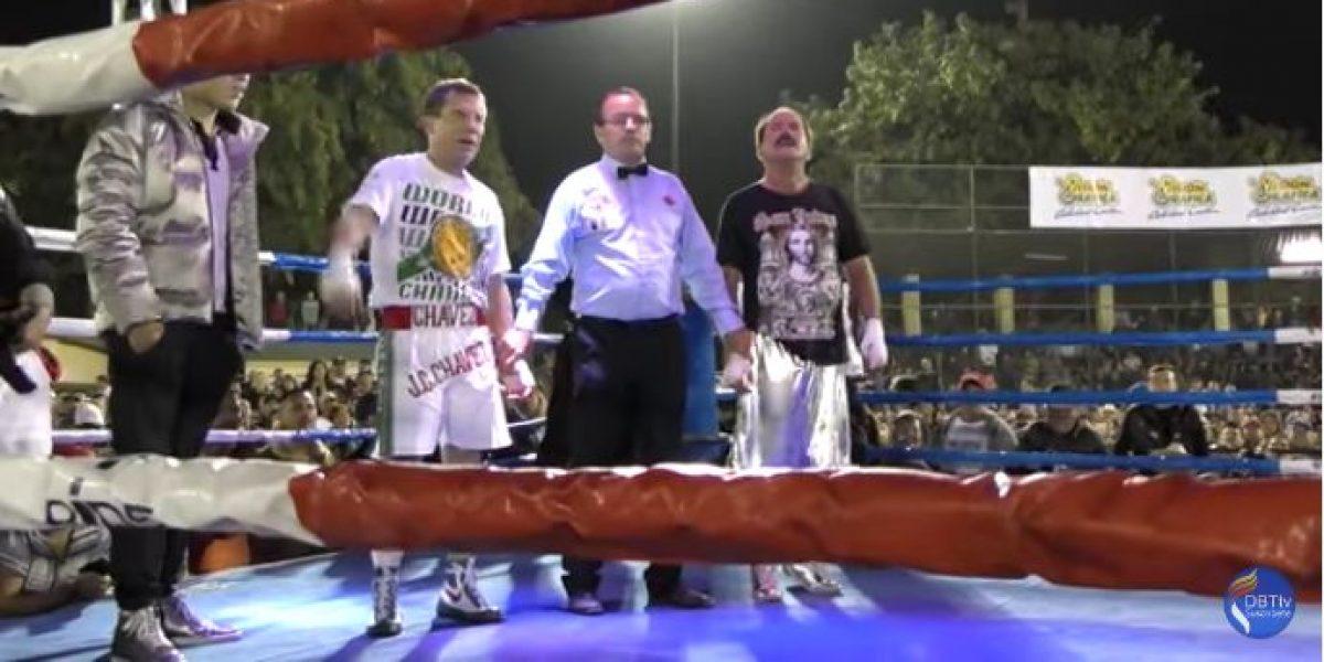 VIDEO: JC Chávez volvió al ring en pelea de exhibición