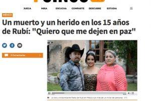 Medios Internacionales destacan la fiesta de XV años de Rubí. Imagen Por: El Mundo - España