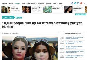 Medios Internacionales destacan la fiesta de XV años de Rubí. Imagen Por: News.com.au - Australia