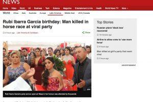 Medios Internacionales destacan la fiesta de XV años de Rubí. Imagen Por: BBC - Reino Unido