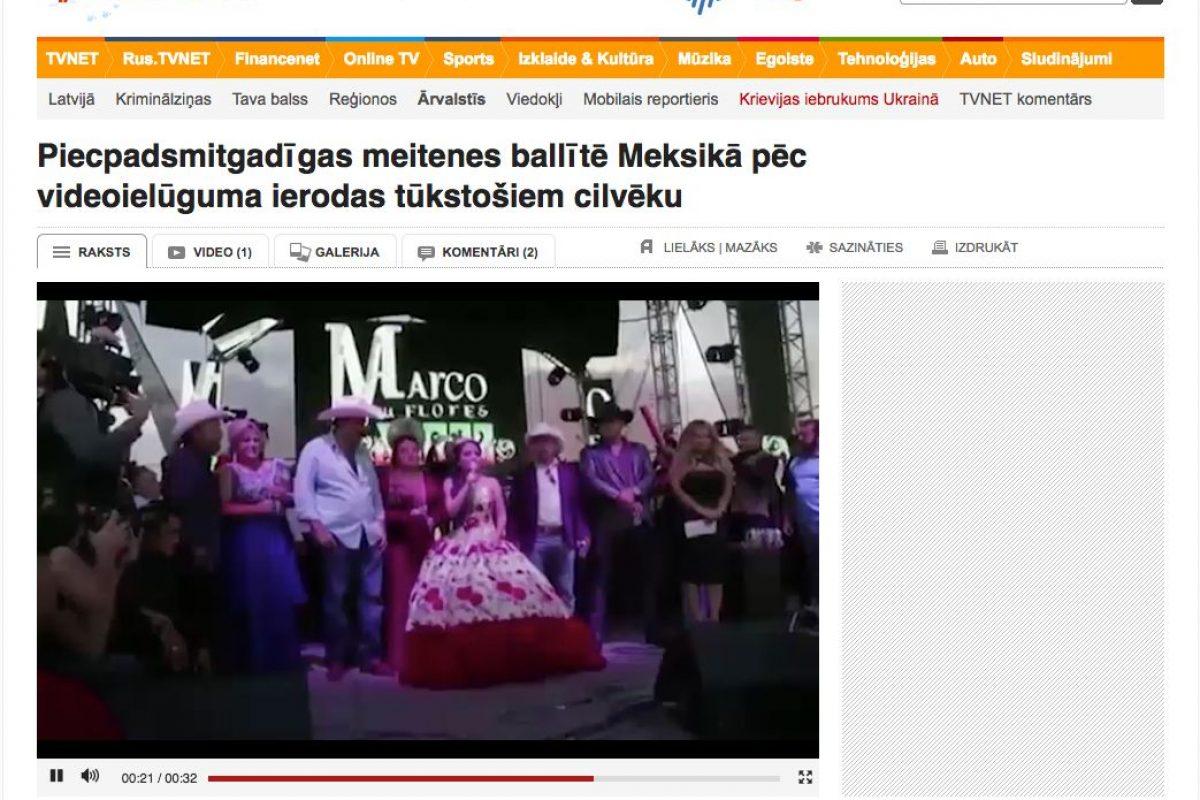 Medios Internacionales destacan la fiesta de XV años de Rubí. Imagen Por: TV Net - Lituania