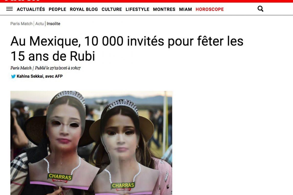 Medios Internacionales destacan la fiesta de XV años de Rubí. Imagen Por: Paris Match - Francia