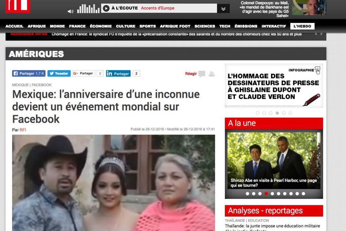 Medios Internacionales destacan la fiesta de XV años de Rubí. Imagen Por: RFI - Francia
