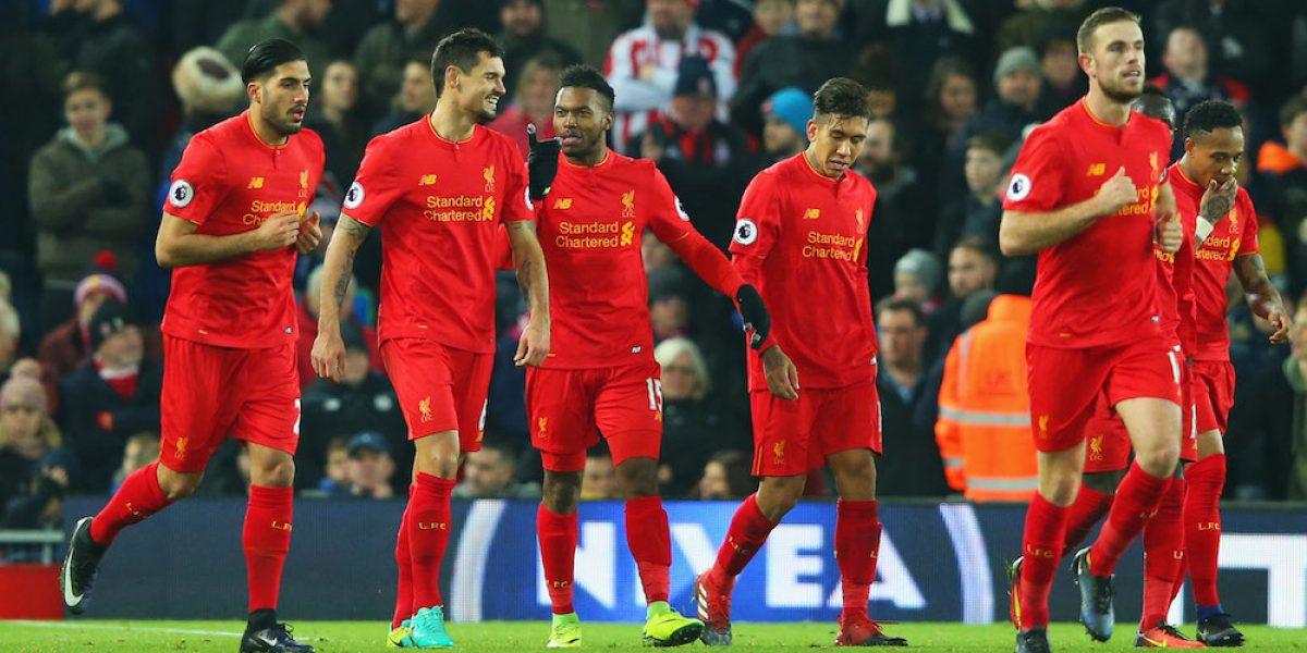 Liverpool remonta y termina goleando al Stoke City
