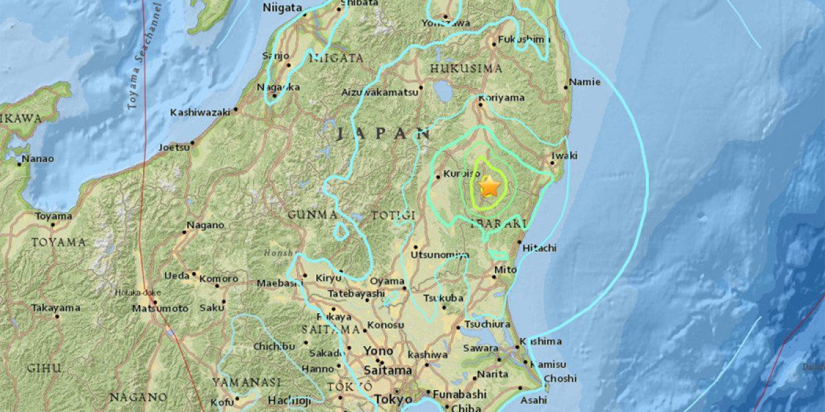 Sismo magnitud 5.9 sacude Japón, cerca de Fukushima