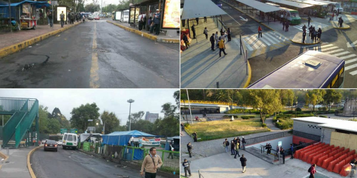 Abren paradero provisional en Chapultepec