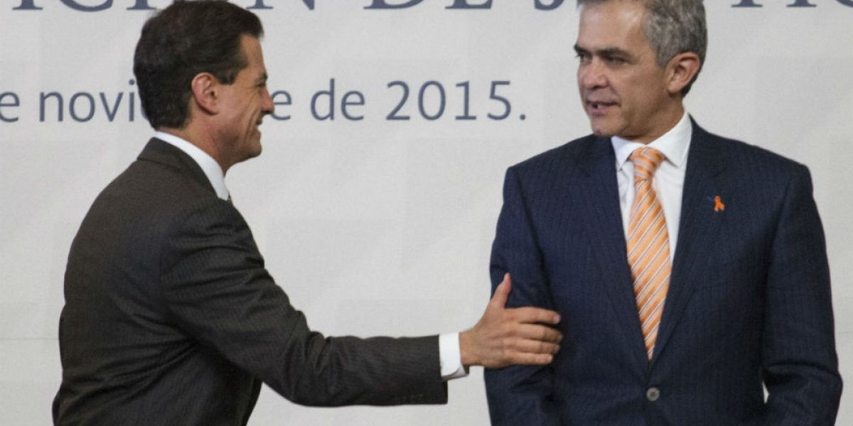 Mancera busca reunirse con Peña Nieto por