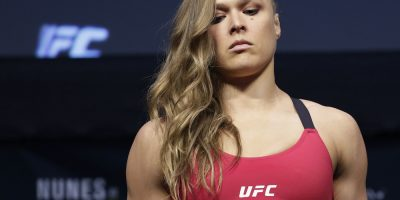 © Copyright 2016 The Associated Press. All rights reserved.. Imagen Por: Ceremonia de pesaje, Amanda Nunes vs Ronda Rousey. / AP