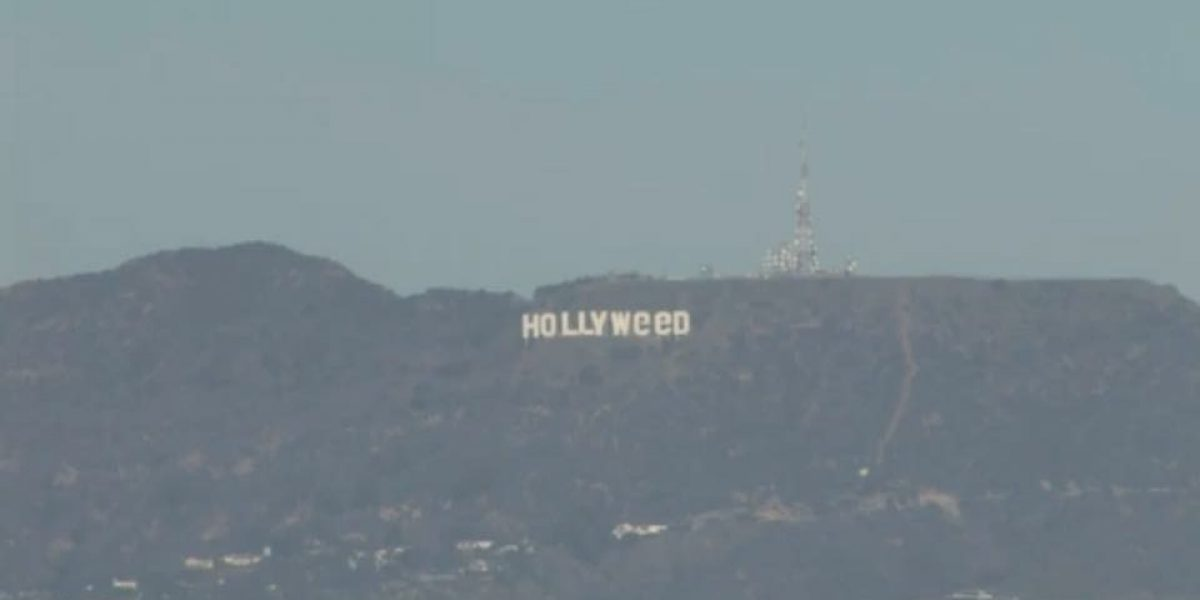 Vandalizan el famoso cartel de Hollywood