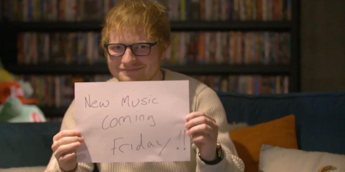 Ed Sheeran regresa el viernes con nueva canción