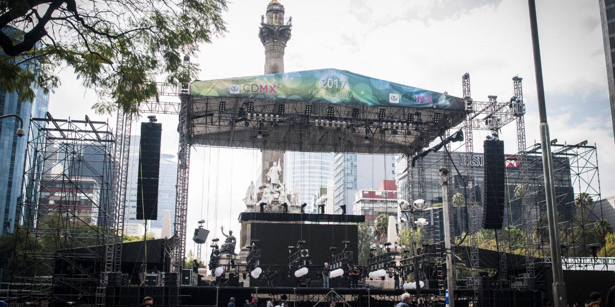 Continúan cierres viales en Reforma por festejos de fin de Año