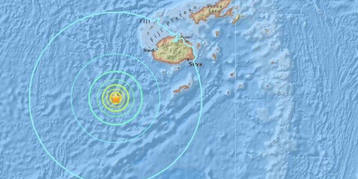 Sismo de 7.2 sacude islas de Fiji; hay riesgo de tsunami
