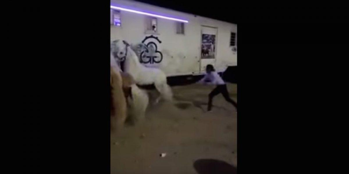 Exhiben a rejoneador Emiliano Gamero golpeando a uno de sus caballos y recibe duras críticas