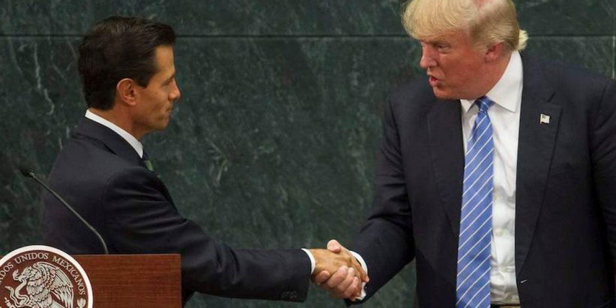 Simpatizantes de AMLO responsabilizan a Peña por triunfo de Trump