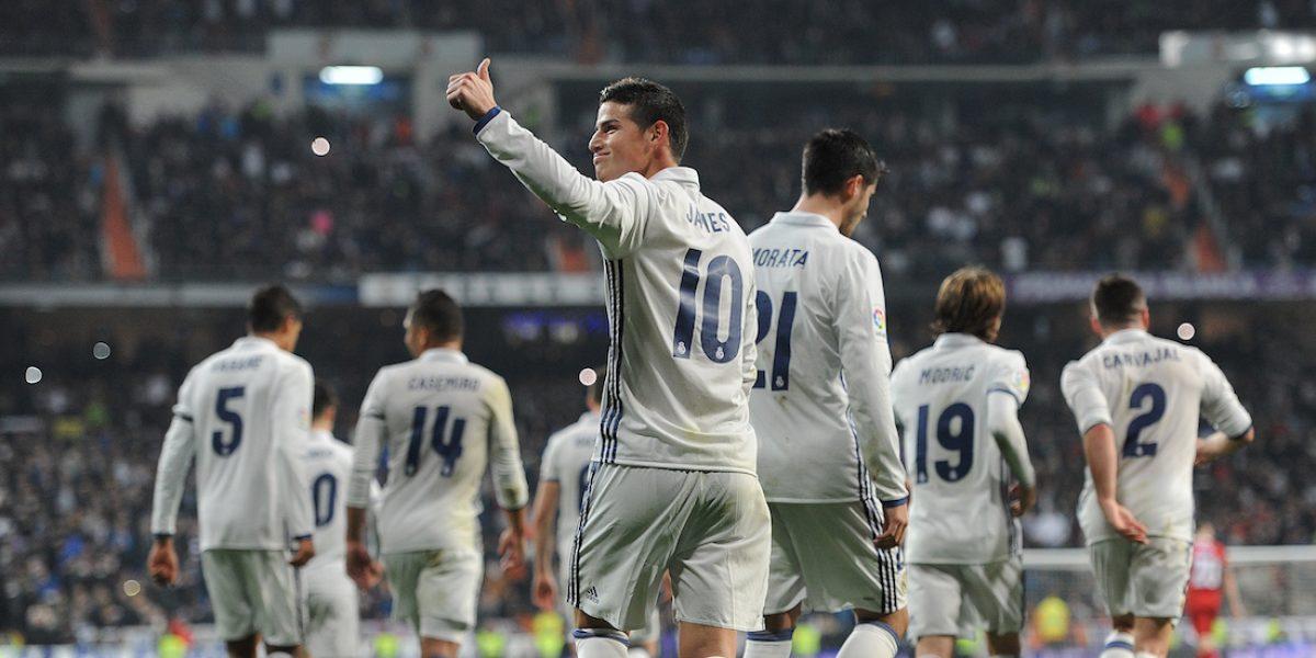 James comanda el triunfo del Real Madrid sobre el Sevilla