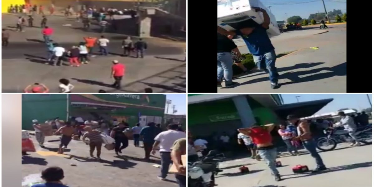 Difunden impactantes videos de saqueos en Edomex