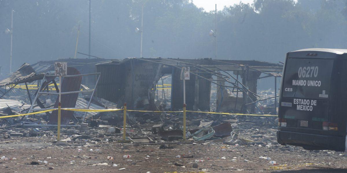Suman 39 muertos por explosión en Tultepec