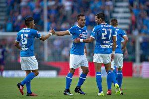© MEXSPORT. Imagen Por: Adrián Aldrete fue el autor del gol azul./ Mexsport