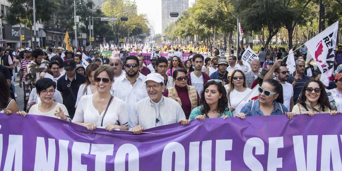 "SSP-CDMX contabiliza cinco mil manifestantes contra ""gasolinazo"""