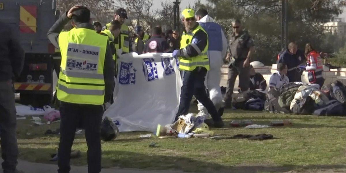 Ataque a un camión en Jerusalén deja más de 15 heridos