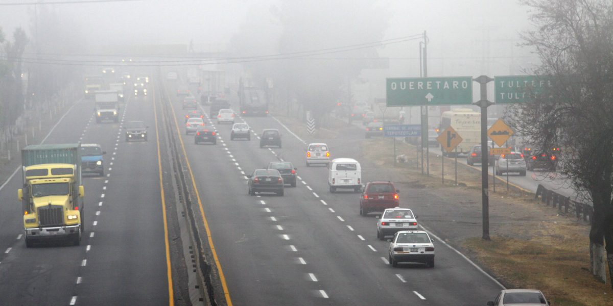 Reportan bancos de niebla en accesos a la CDMX