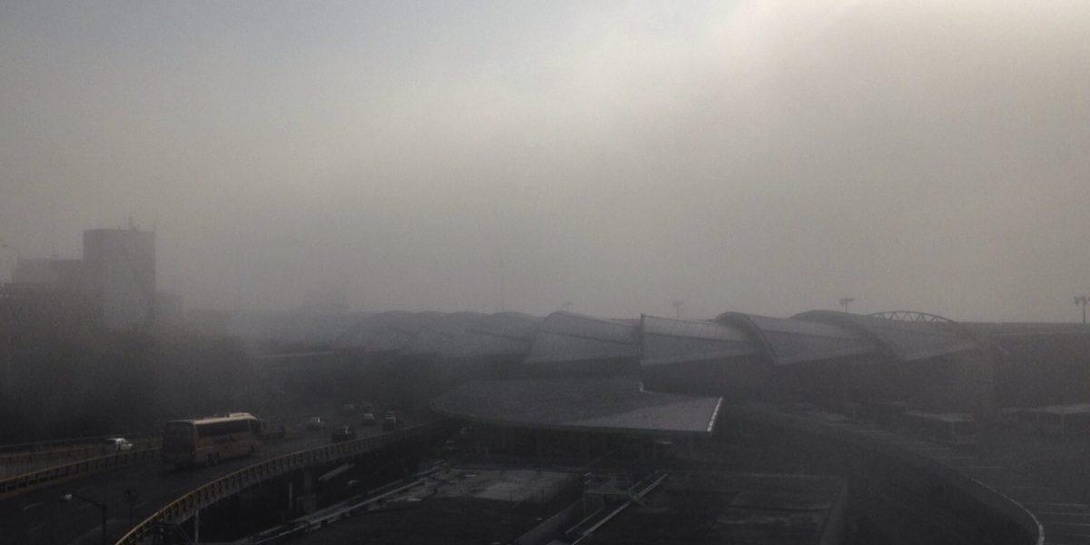 Reportan bancos de niebla afectando las salidas de la CDMX
