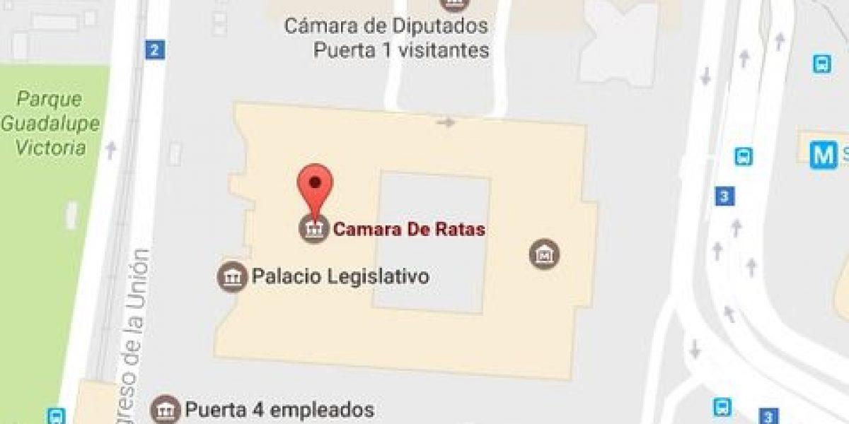 Renombran en Google Maps a Cámara de Diputados y al Senado