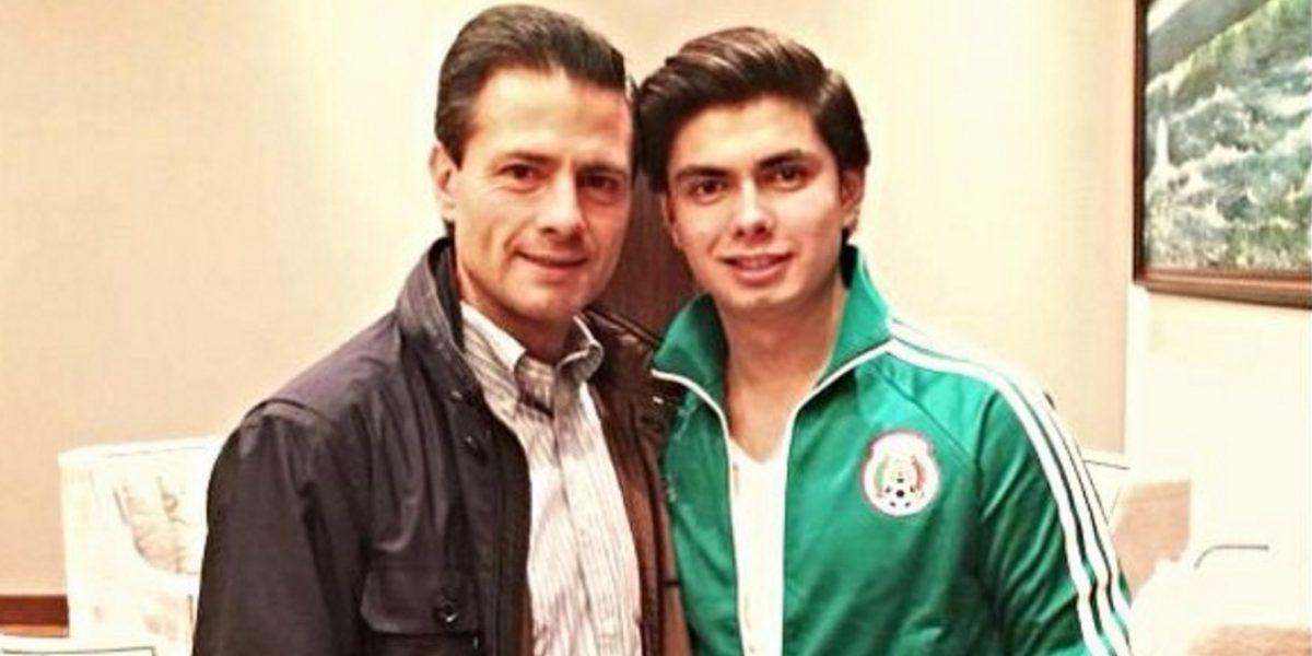 Así ha sido la radical transformación de Alejandro Peña, el hijo del presidente