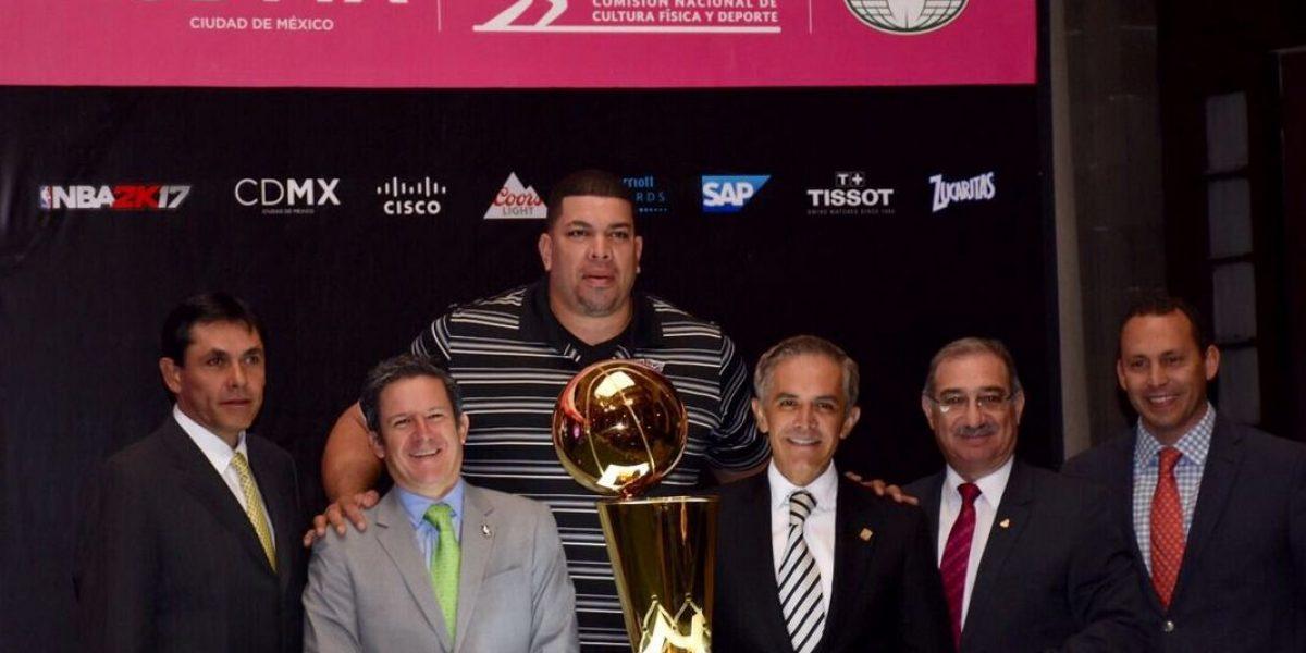Miguel Ángel Mancera sueña con tener un equipo NBA con sede en la CDMX