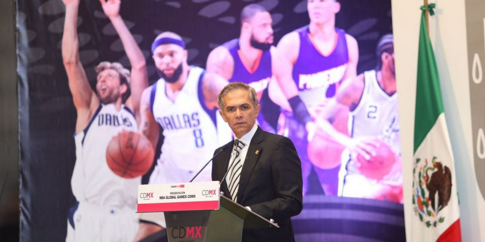 . Imagen Por: CDMX inaugura los NBA Global Games. / Twitter: @GobCDMX