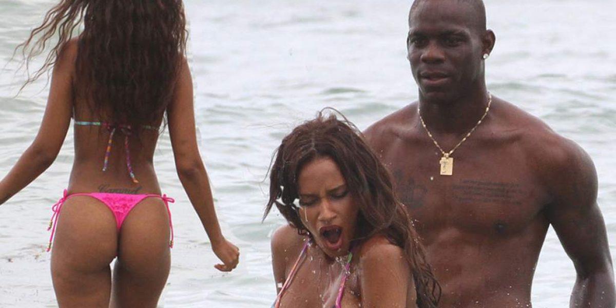 FOTO: Captan a Mario Balotteli muy cariñoso con su ex