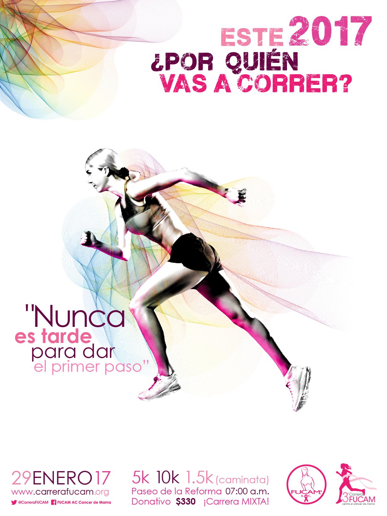 Apoya a la 3ª Carrera FUCAM 2017 contra el cáncer de mama.