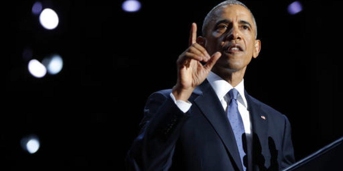 Fue un honor ser presidente de EUA: Obama