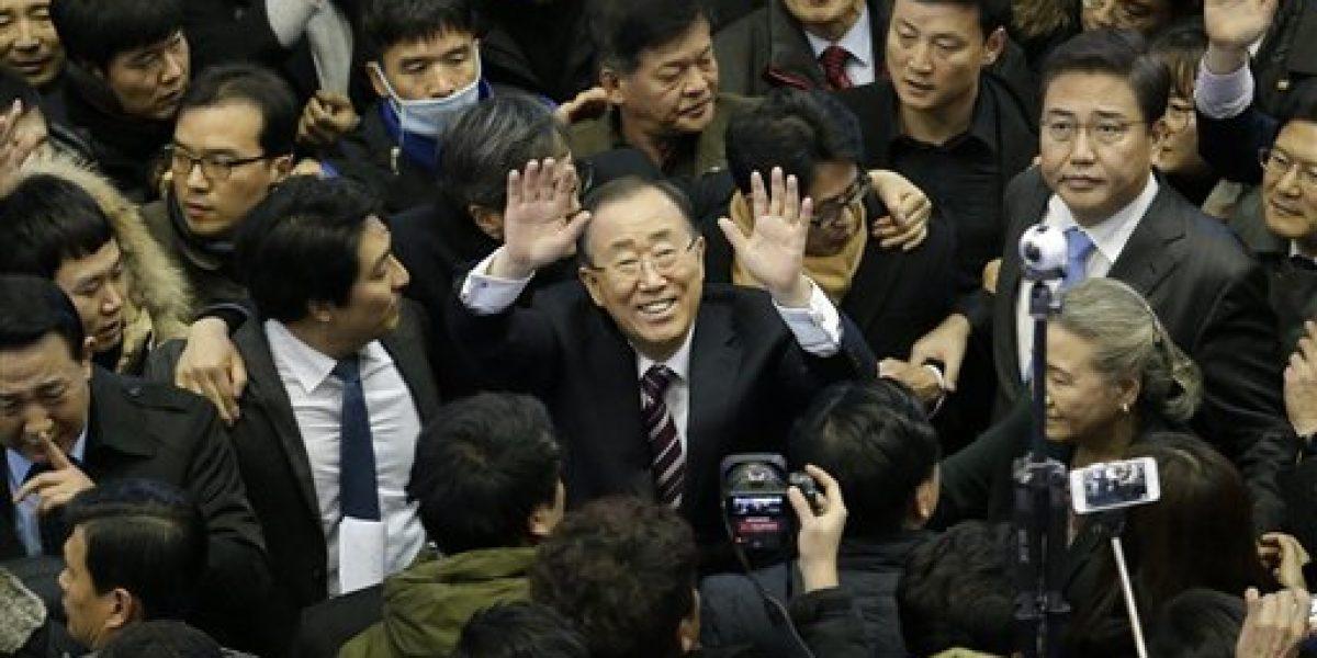 Ban Ki-moon insinúa candidatura presidencial en Corea del Sur