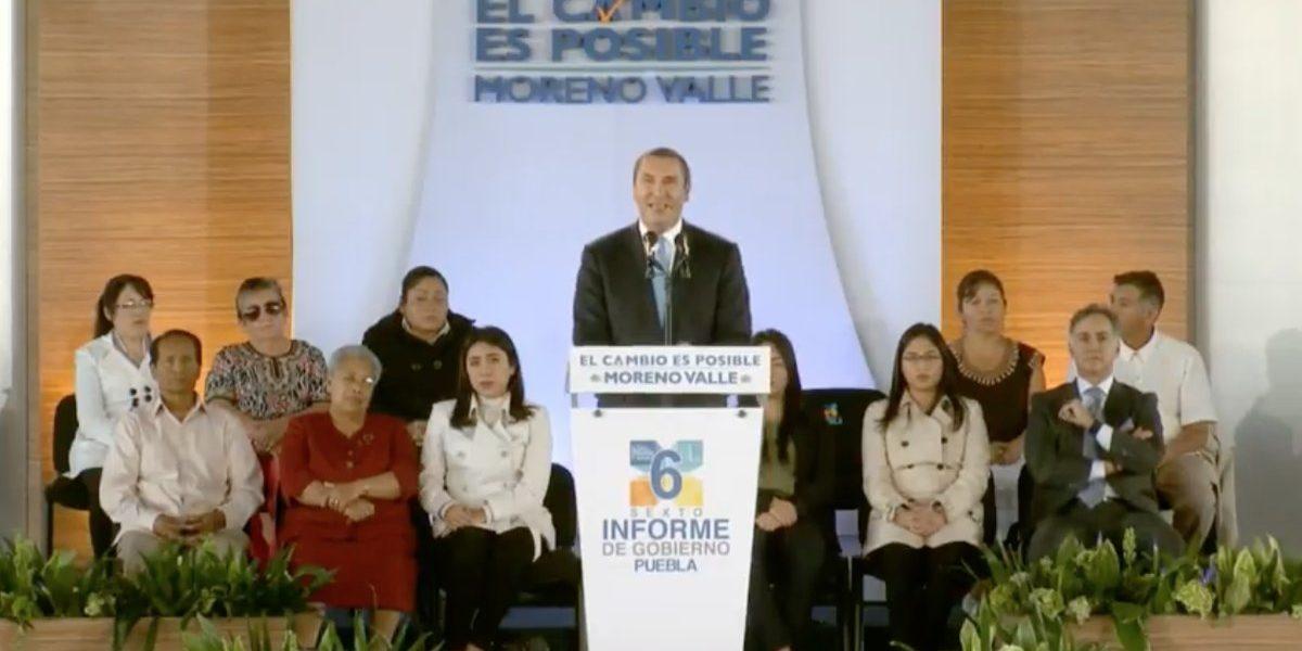Rafael Moreno Valle rinde su último informe de gobierno