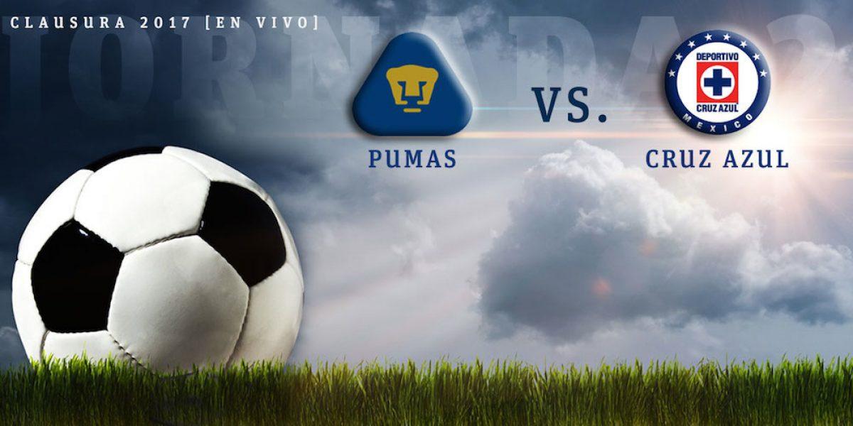 EN VIVO: Pumas recibe a Cruz Azul en la jornada 2 del Clausura 2017