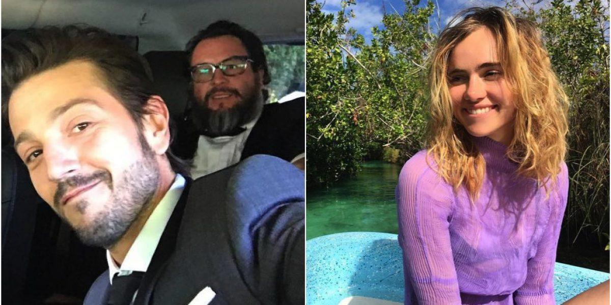 Captan a Diego Luna muy cariñoso con Suki Waterhouse en Tulum